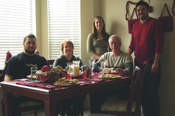 a picture of my family at christmas dinner